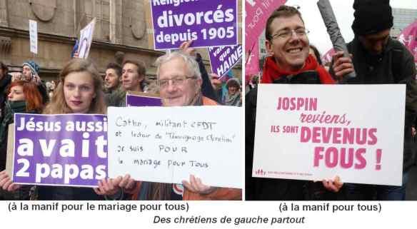 Des chrétiens de gauche dans les manifs de janvier 2013 sur le mariage
