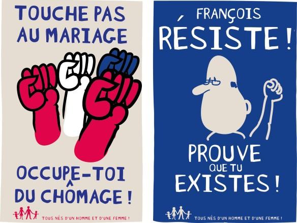 Quelques affiches officielles de la manif pour tous du 24 mars