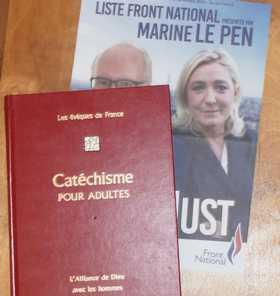 Catéchisme des évèques de France vs tract FN